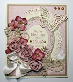 Frame your experiences with the Spellbinders Floral Ovals Dies. These dies create an oval shape, so you can craft amazing layouts and scrapbooks. Butterfly Cards, Flower Cards, Christian Cards, Beautiful Handmade Cards, Pretty Cards, Paper Cards, Cool Cards, Vintage Cards, Greeting Cards Handmade