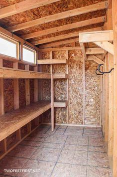 How to build storage shelves – Are you looking for a storage solution in your shed or garage? Well, I have an easy way to build storage shelves for either the garage, shed, or maybe a storage room. Shed Storage Shelves, Storage Shed Organization, Building A Storage Shed, Outdoor Storage Sheds, Laundry Room Storage, Outdoor Sheds, Storage Ideas, Basement Storage, Diy Storage Room