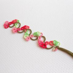 Spring Flowers Tatted Bookmark - FREE SHIPPING. $8.50, via Etsy.
