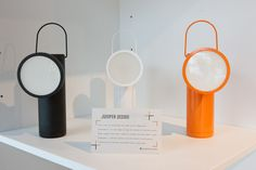 """Called the """"M Lamp,"""" this modern reimagining of the 19th century coal miner's lamp is actually super energy efficient. The collection from British designer David Irwin, was on display at Creativity Story in collaboration with Lexus. For more futuristic inspiration like this, head to the Lexus Design Award website."""