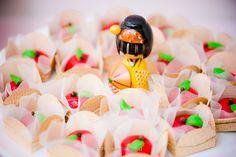 Bonecas Kokeshi doces