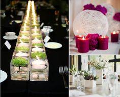 Centrotavola? la fila di candele e fiori o la palla?