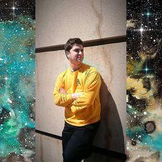 "🌌 ""Space. The final frontier."" 🌌   #mcm #mybf #guycosplayer #cosplay #captainkirk #startrektos #latergram #c2e22017 #startrekcosplay #mancrushmonday #space #watercolor boarder by #instasize"