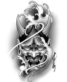 Hannya Maske Tattoo, Oni Tattoo, Hanya Tattoo, Japan Tattoo Design, Japanese Tattoo Designs, Tattoo Design Drawings, Cool Forearm Tattoos, Leg Tattoos, Tattoos For Guys
