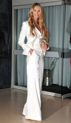 Elle Macpherson in all white