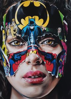 """Je N'ai Pas Peur, by Sandra Chevrier. A stirring amalgamation of street art and fine art, Sandra Chevrier's most iconic work stems from her """"C. Abstract Canvas, Oil Painting On Canvas, Body Painting, Sandra Chevrier, Pop Art, Sculpture Museum, Street Art, Photos Hd, Art Anime"""