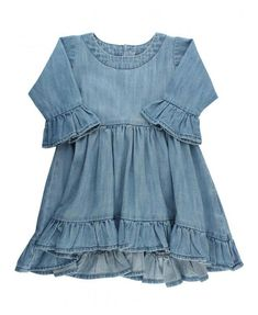 a19f93f2f7 Anna High-Low Denim Dress  denim  ruffles Boys Denim Shirt