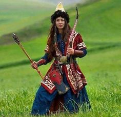 """world-ethnic-beauty: """"Hungarian female warrior """" - Krieger Folk Costume, Costumes, Costume Ethnique, People Of The World, Central Asia, Historical Costume, World Cultures, Archery, Traditional Dresses"""