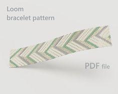 Bracelet bead loom pattern, wristband pattern, wrist cuff pattern for Miyuki Delica seed beads Loom Bracelet Patterns, Bead Loom Patterns, Loom Bracelets, Unique Bracelets, Tentacle, Loom Beading, Seed Beads, Jewelry Making, Etsy Shop