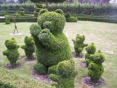 This would be sweet outside of a children's library...topiary bear and cubs