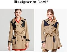 Trench Coat: Designer or Deal?