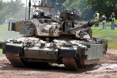 "Challenger 2 nicknamed ""Megatron"". Tank is equipped in additional gear such as TES-H armor package and electronic systems"