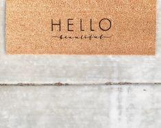 HELLO beautiful | doormat