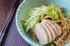 A refreshing lunch or dinner to make when it's hot in the summertime! Sesame Soba Noodles with Chicken from @Fifteen Spatulas | Joanne Ozug