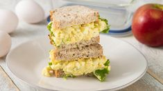 Turn some eggs into a salad and put it in a sandwich. 25 Eggcellent Ways To Cook With Eggs Best Egg Salad Recipe, Easy Salad Recipes, Egg Recipes, Cooking Recipes, Healthy Recipes, Egg Salad Sandwiches, Sandwich Recipes, Canadian Food, Favorite Recipes