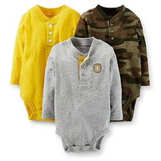 Carters 3 Pack Jersey Bodysuits Baby  Assorted6 Months -- More info could be found at the image url.