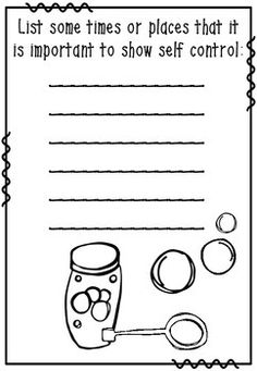 Printables Self Control Worksheets teaching resources and home on pinterest self control bubbles a behavior management tool