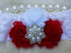 Red Headband/Shabby Chic Headband/Infant Headband/Baby Headband/Newborn Headband/Toddler Headband/Girls Headband/Birthday Headband by OohLaLaDivasandDudes on Etsy