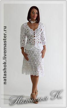 Купить костюм Королевская лилия - ирландское кружево, ирландское вязание, ирландия, ирландские кружева, белоснежная