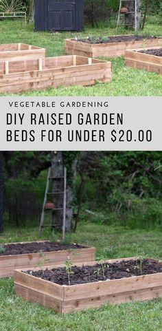 Garden Beds Learn how to make affordable cedar garden beds for your vegetable garden.Learn how to make affordable cedar garden beds for your vegetable garden.