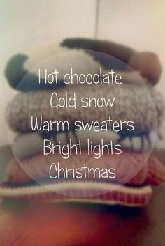 What I love about winter!