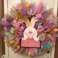 REDUCED!! Easter Wreath, Spring Wreath, Easter Bunny Wreath, Modern Easter…