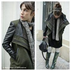#pyrus#jacket #patriciablanchet #boots #matieresareflexion berlingot #bag #lalaberlin #scarf @Matières   -   le Parti-Pris Minéral à reflexion