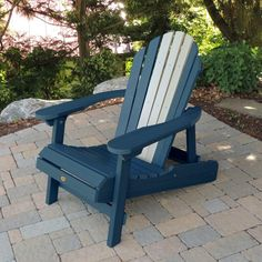 Highwood Usa Curved Back Hamilton Folding Reclining Adirondack Chair