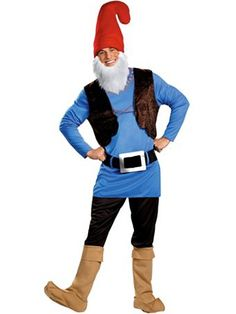 Papa Gnome Costume | Adults Mens Smurfs Halloween Costumes