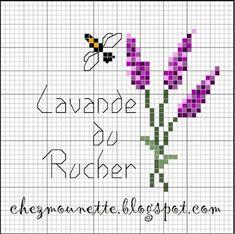Chez Mounette: Coussinets de lavande du rucher brodés