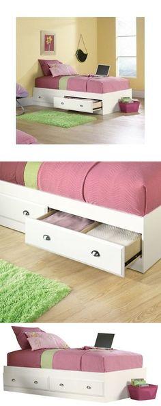 White Storage Bed Twin Kids Bedroom Furniture W... - Exclusively on #priceabate #priceabateKidsFurniture! BUY IT NOW ONLY $181.85