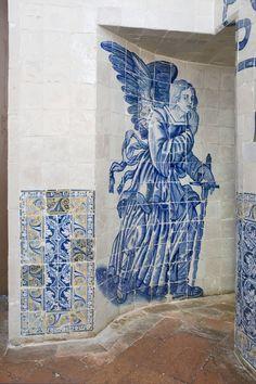 A EQUIPA DO Az / The Az Team [Inês Aguiar] - Lisboa | Palácio de / Palace of Santos | 1º quartel do século XVII / 1st quarter of the 18th century  [photo: Inês Aguiar] #Azulejo #AzulEBranco #BlueAndWhite Tile Art, Mosaic Tiles, Portugal, Portuguese Tiles, Blue Rooms, Fresco, Photo Galleries, Street Art, Creations