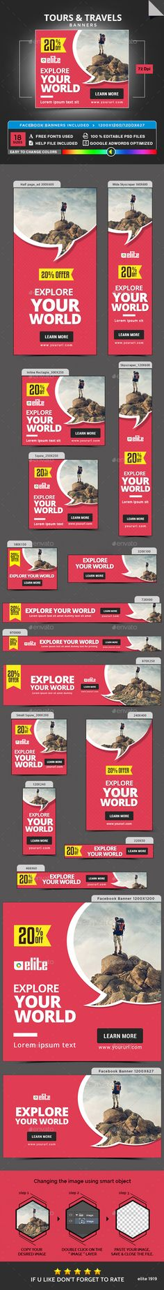 Tours & Travel Banners Template PSD