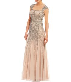 ab5ff9dc4e3 Shop for Adrianna Papell Petite Cap-Sleeve Beaded Gown at Dillards.com.  Visit · Bridesmaid Dresses ...