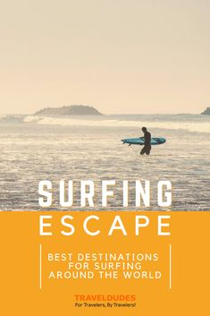 Learn to Surf!   Surfing vacations are popular among active travelers – from beginners to the pros. If you're just learning to surf, then you'll want to find the best destinations to spend your surfing holiday. Some of the best places to learn to surf around the world.   TravelDudes #Surfing   learn how to surf   best place to learn to surf   where to learn to surf Surfing Destinations, Amazing Destinations, Beach Travel, Beach Trip, Holidays Around The World, Around The Worlds, Kuta Beach, Point Break, Learn To Surf