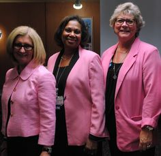 In honor of Breast Cancer Awareness Month, our COO and Directors from our Medical and Surgical departments show their awareness by wearing pink!  Pictured from (L-R): Joey Bulfin, COO, Theresa Bubb-Jones, Administrative Director of Medical and Surgical Services, Deena Carney, Administrative Director of Surgical Services