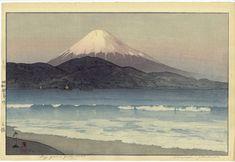 Hiroshi's Fujiyama from Miho   1935