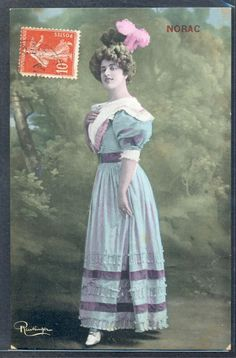 QK125 ARTIST STAGE STAR NORAC FEATHER HAT Tinted PHOTO pc REUTLINGER