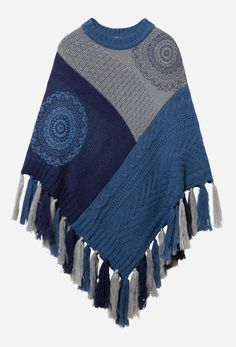 Block Fringe, Boho Chic, Blanket, Navy, Sweaters, Color, Women, Fashion, Colour