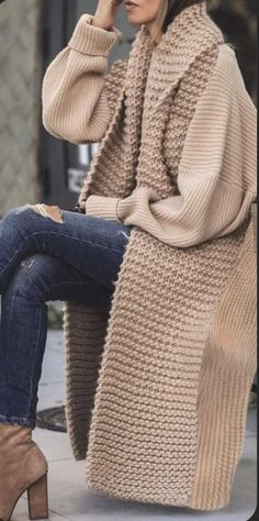 Warm Outfits, Winter Fashion Outfits, Cute Casual Outfits, Pretty Outfits, Autumn Winter Fashion, Stylish Outfits, Trendy Clothes For Women, Cardigans For Women, Mode Simple