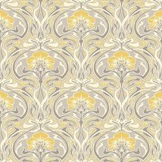 http://www.ebay.co.uk/itm/Grey-and-Yellow-Retro-Floral-Wallpaper-Art-Deco-Flora-Nouveau-by-Crown-M1195-/272558976318