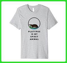Mens Platypus Is My Spirit Animal T-Shirt 2XL Heather Grey - Animal shirts (*Amazon Partner-Link)