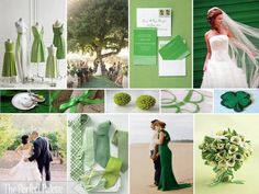 Garden Greens! A Palette of Shades of Green