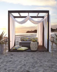 Outdoor Cabana - Horchow from Horchow. Saved to Home - Outdoor. Shop more products from Horchow on Wanelo. Outdoor Cabana, Outdoor Rooms, Outdoor Living, Outdoor Decor, Outdoor Lounge, Outdoor Furniture, Outdoor Life, Bedroom Furniture, Gazebos