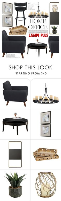 """""""Work Hard: Home Office"""" by vanjazivadinovic ❤ liked on Polyvore featuring interior, interiors, interior design, home, home decor, interior decorating, Hemingway, Franklin Iron Works, Sonneman and home office"""