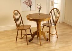 Small Dining Table Round Bistro Extendable Wood Pedestal Coffee Wooden Kitchen for sale online Windsor Dining Chairs, Round Dining Table, Dining Sets, Wood Pedestal, Kitchen Sale, Wooden Kitchen, Dining Room Furniture, New Homes