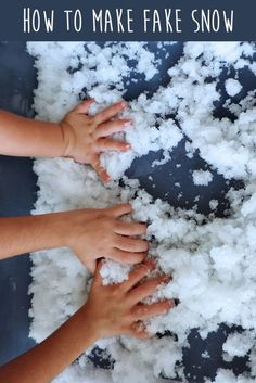 Do you live in an area where the sun never sleeps? Do your kids pine for a snow day? Well then, read on to find out how to make fake snow for kids! While most of the country's moms and dads are… Easy Paper Crafts, Foam Crafts, Kid Crafts, Snow Crafts, Christmas Crafts, Christmas Wreaths, Christmas Tree, Winter Crafts For Kids, Diy For Kids