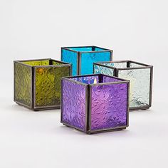 Cool Square Tealight Candle Holders, Set of 4 | World Market