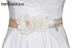 TOPQUEEN FREE SHIPPING S260 Beautiful Flowers Wedding Belts Handmade Flower Wedding Accessory Belt Sashes Bridal Sash Belts