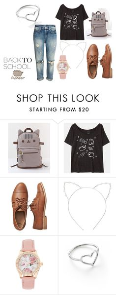 """#PVxPusheen"" by marine-redon on Polyvore featuring mode, Pusheen, Gap, Cara, Jordan Askill, contestentry et PVxPusheen"